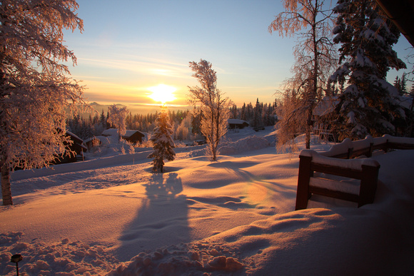 Sunrise from Cabin in Trysil